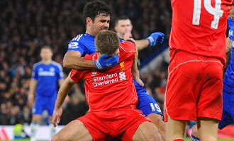 Should Diego Costa have been sent off for stamping?