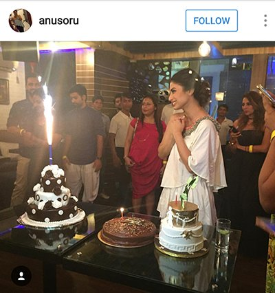 Mouni Roy Birthday celebrations 2016 - 2.png