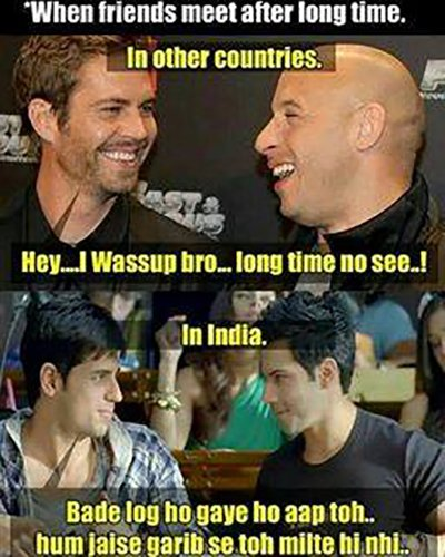 MEME: When friends meet after long time