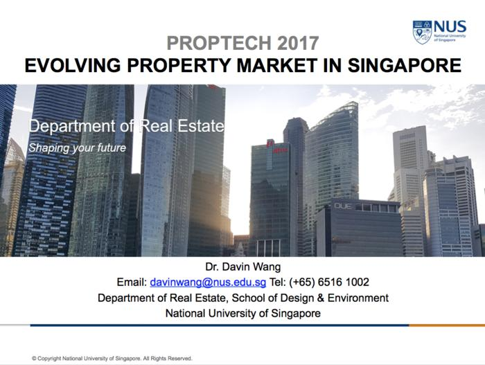 PropTech 2017: Evolving Property Market in Singapore