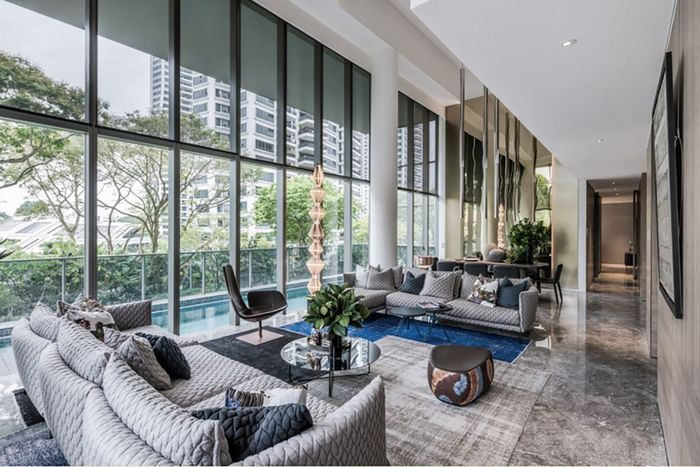 Strong sales of luxury apartments