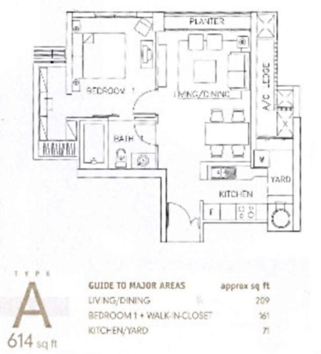 Newton 18 (D11), Apartment #1845