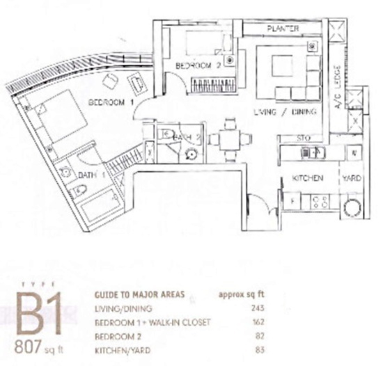 Newton 18 (D11), Apartment #1846