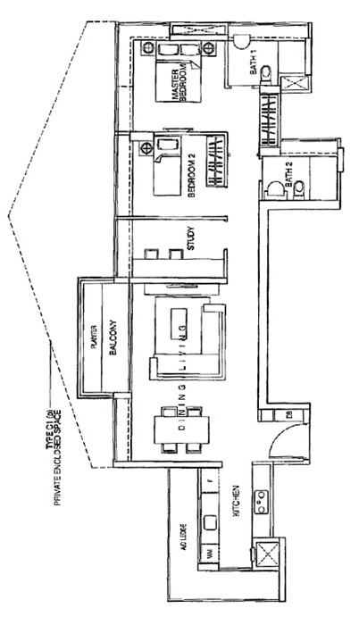 One-north Residences (D5), Apartment #1268