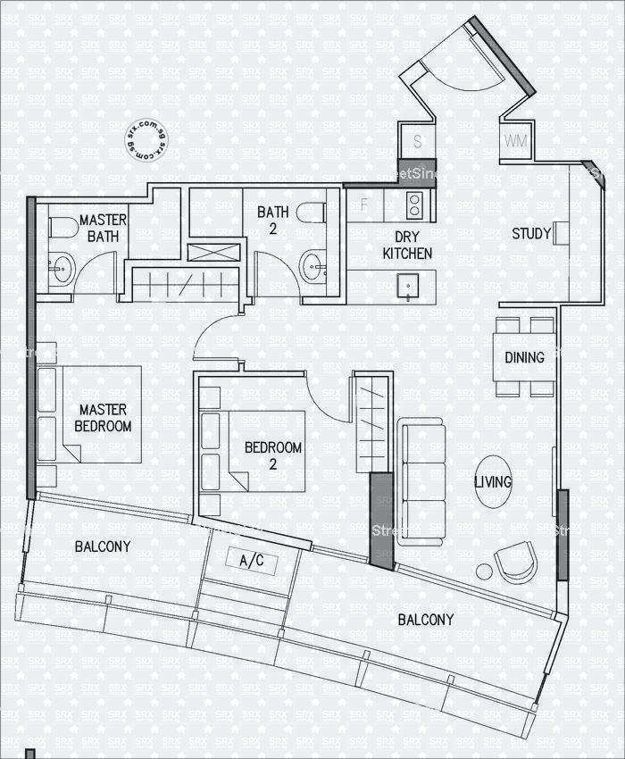 Duo Residences Floor Plan Image #1