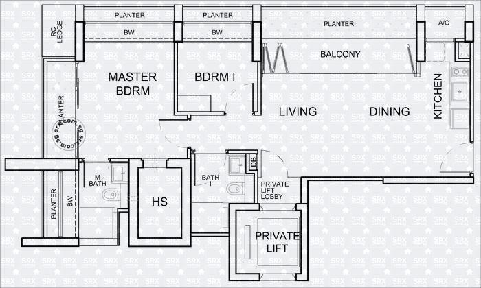 Floor Plans For The Peak Cairnhill Ii Condo Srx Property