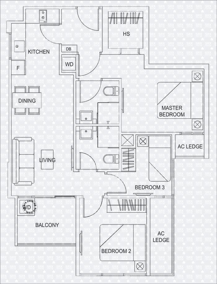 Floor Plans For Hills Twoone Condo
