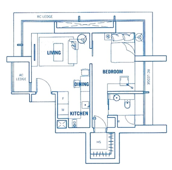 Southbank (D7), Apartment #1264