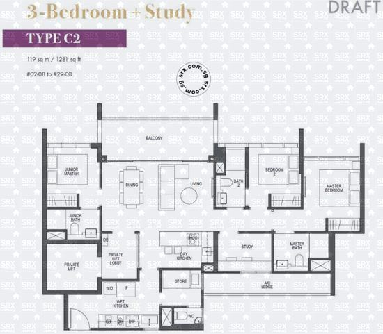 Pullman Residences Newton (D11), Apartment #2016591