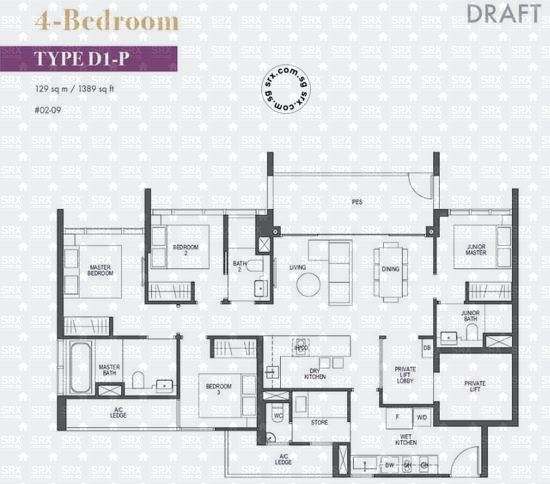 Pullman Residences Newton (D11), Apartment #2016621