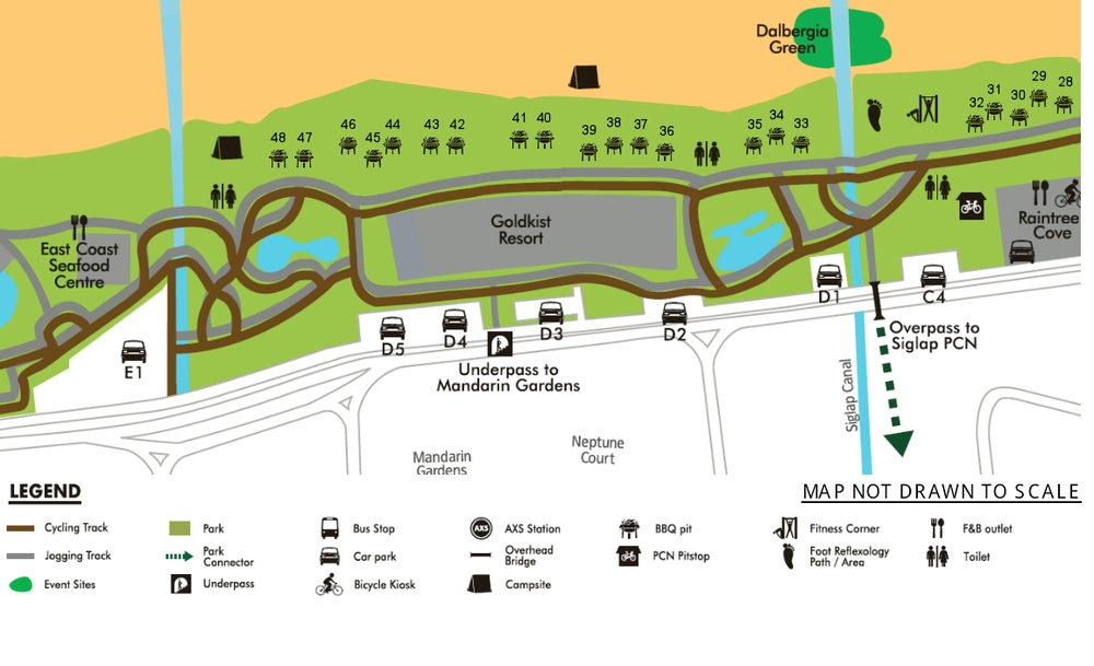 Map Of East Coast Park  MAP