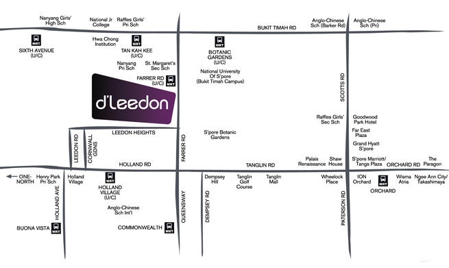 d'leedon location map