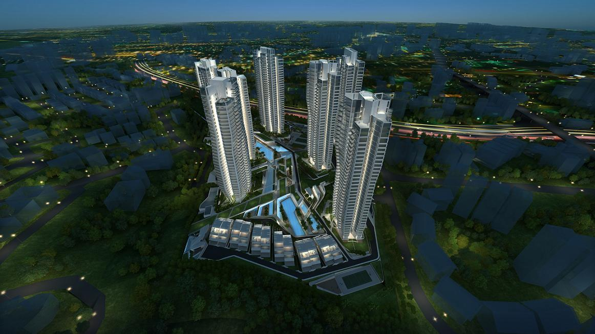 d'leedon night sky exterior view artist impression