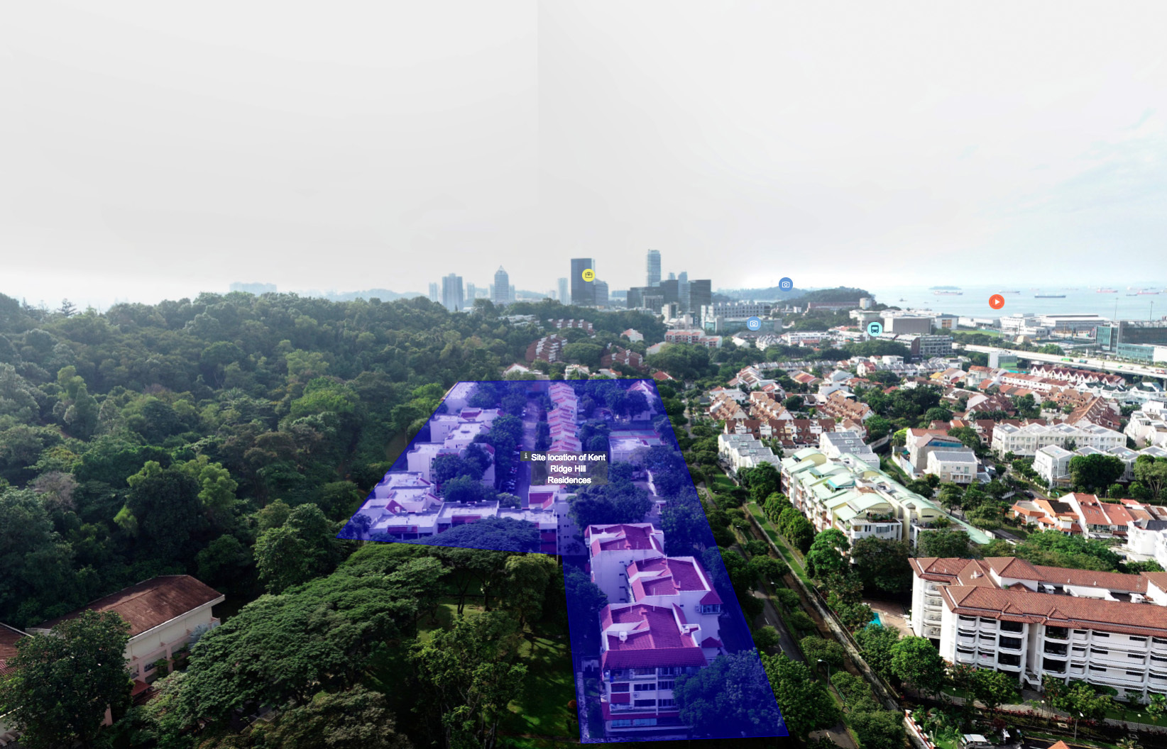 Kent Ridge Hill Residences Drone and Condo Details - South