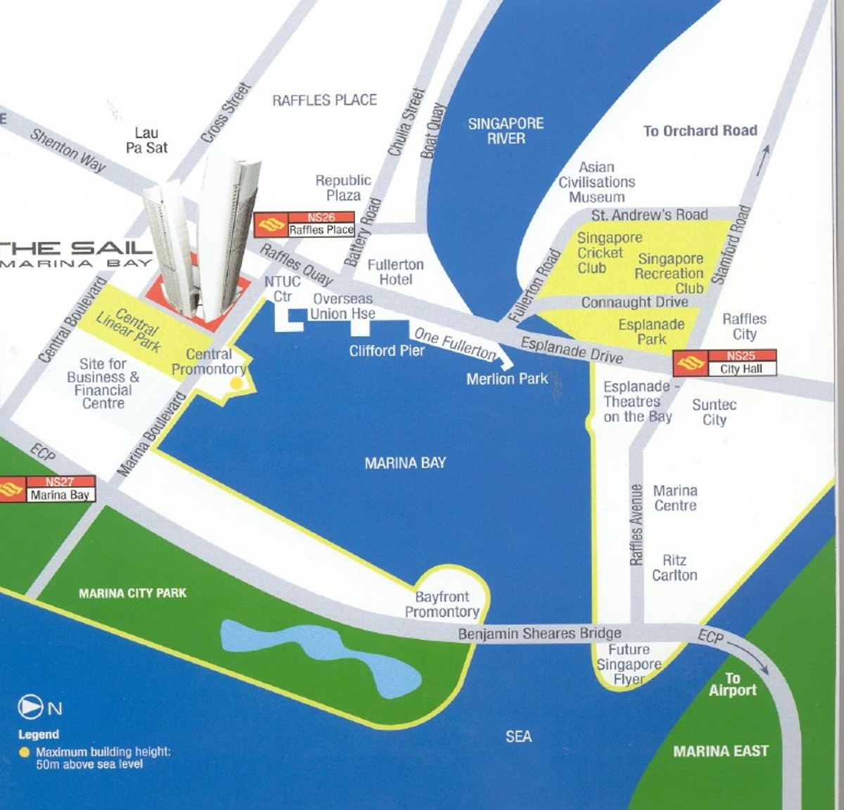 The Sail @ Marina Bay Location Map
