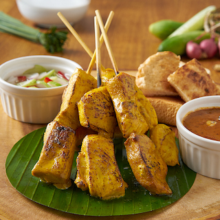 Chicken Satay and Atjar