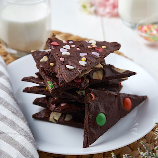Crispy Brownie Bark