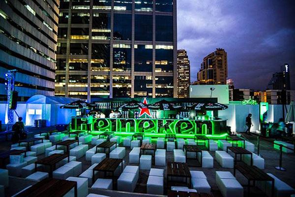 ลานเบียร์ Heineken ที่ Space 16 สุขุมวิท 16