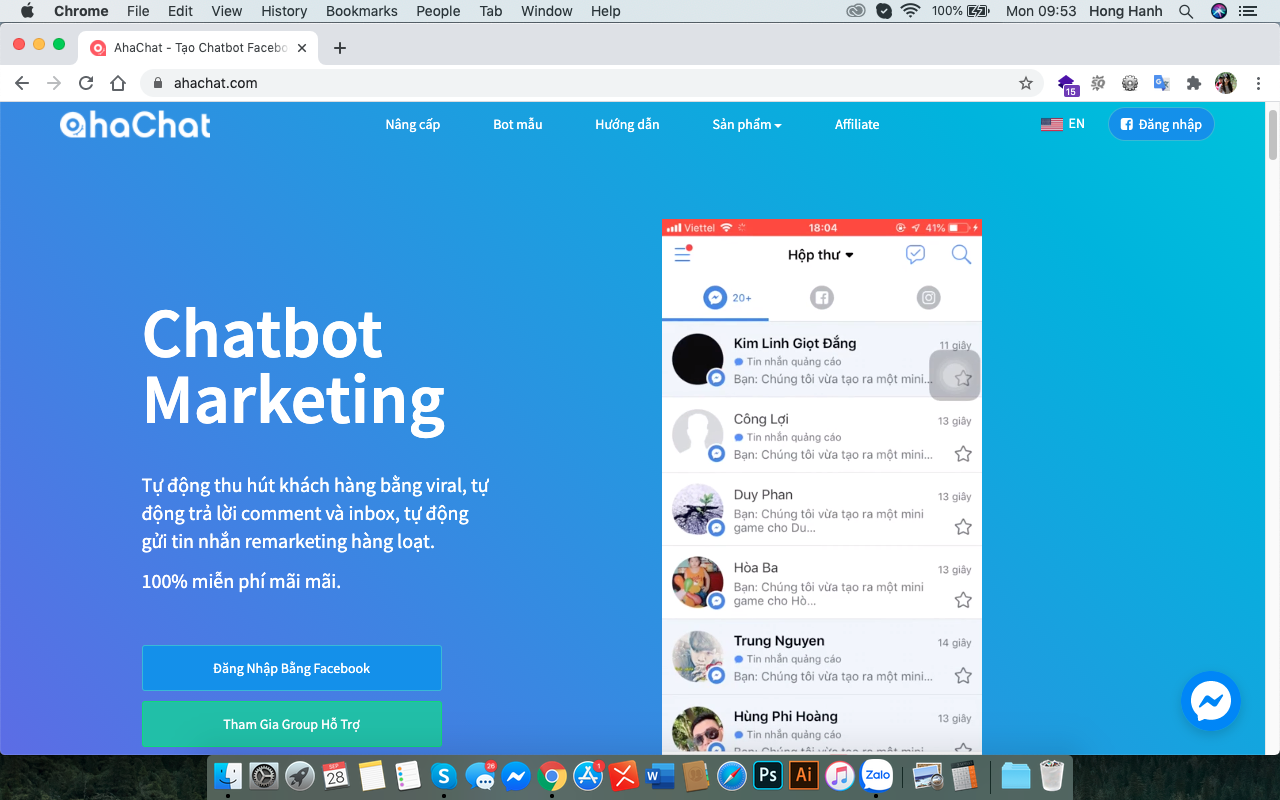 Công cụ Tool Chatbot