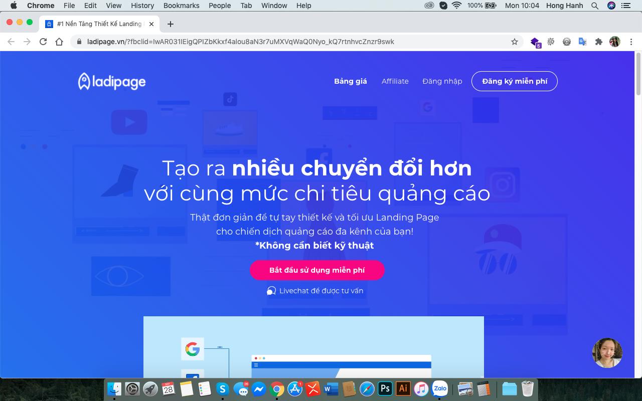 Công cụ làm landing page chạy quảng cáo, thu lead