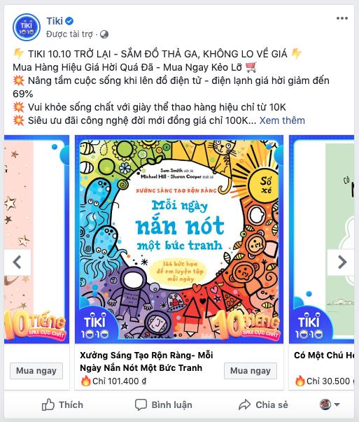 Quảng cáo băng chuyền Facebook
