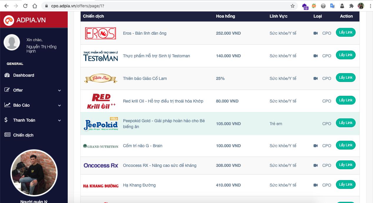 Bước 1: Lựa chọn sản phẩm để kiếm tiền affiliate marketing