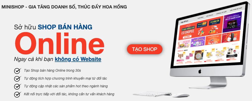 Tạo một trang website để quảng bá hoặc đăng tin mã giảm giá