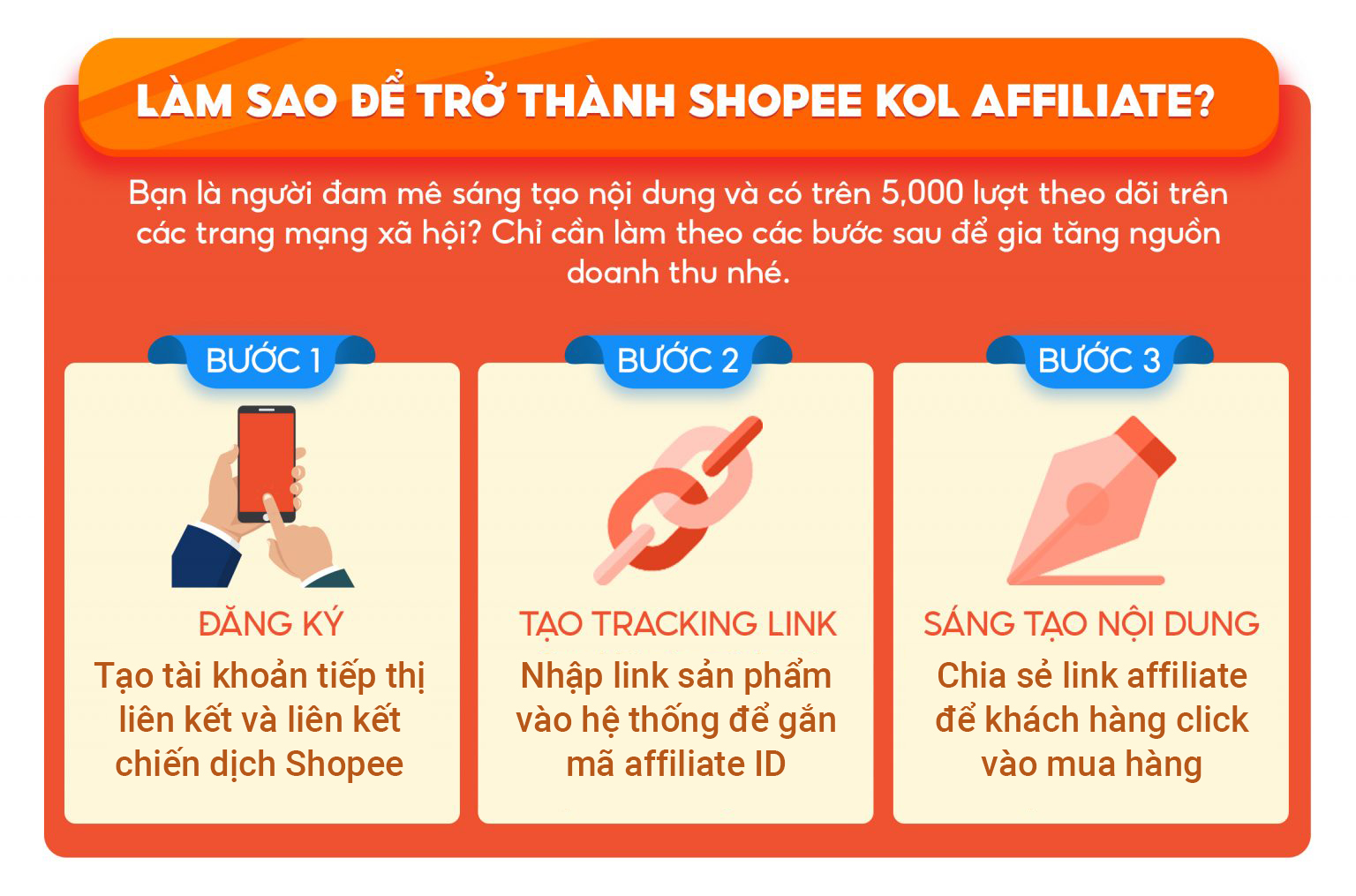 Cách để trở thành nhà tiếp thị liên kết Shopee