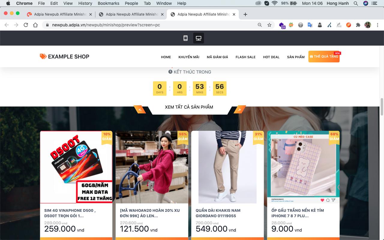 Cách 2: Xây dựng website chia sẻ về mã giảm giá trên lazada
