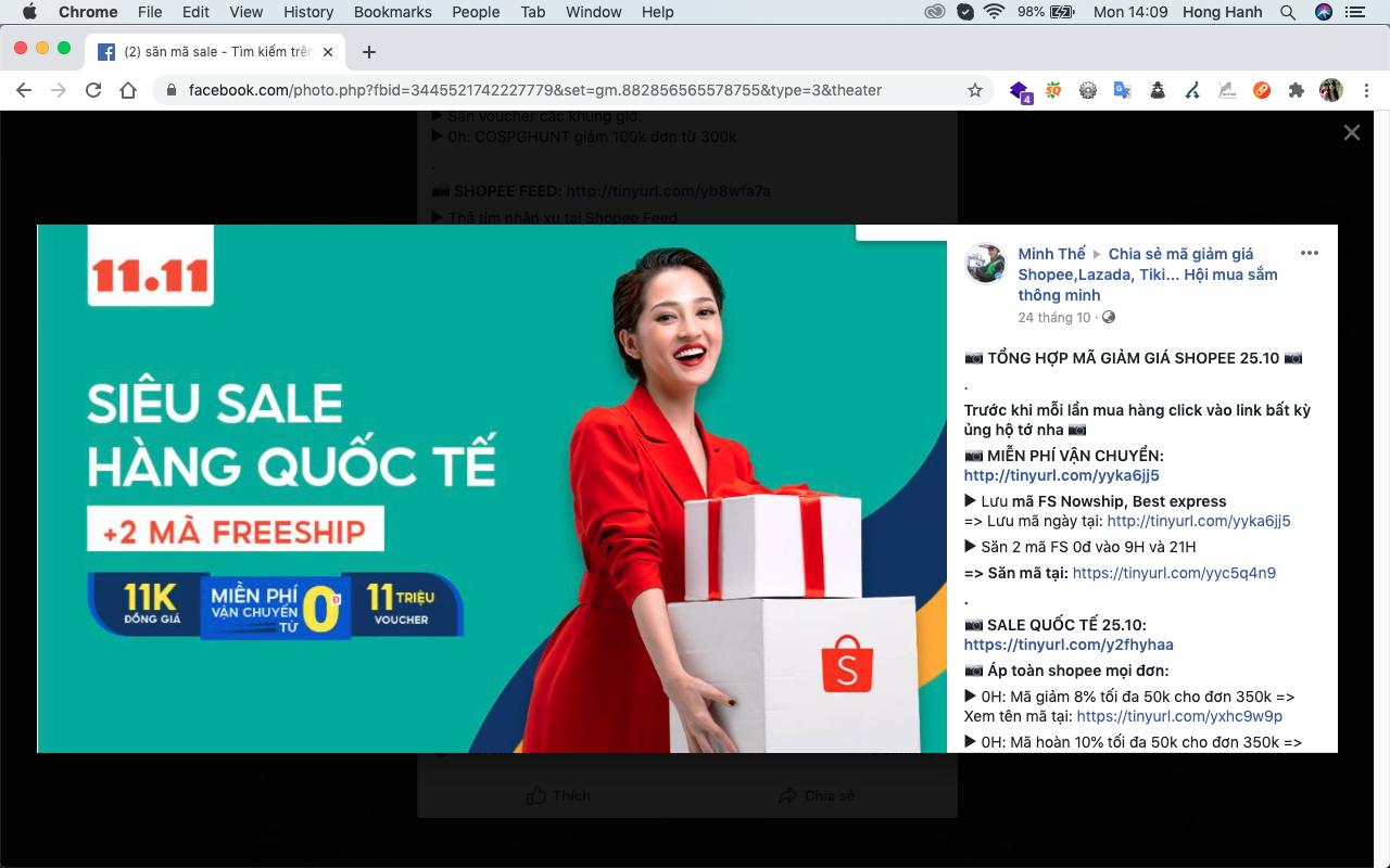 Cách 3: Chia sẻ sản phẩm bán chạy, hot lên mạng xã hội