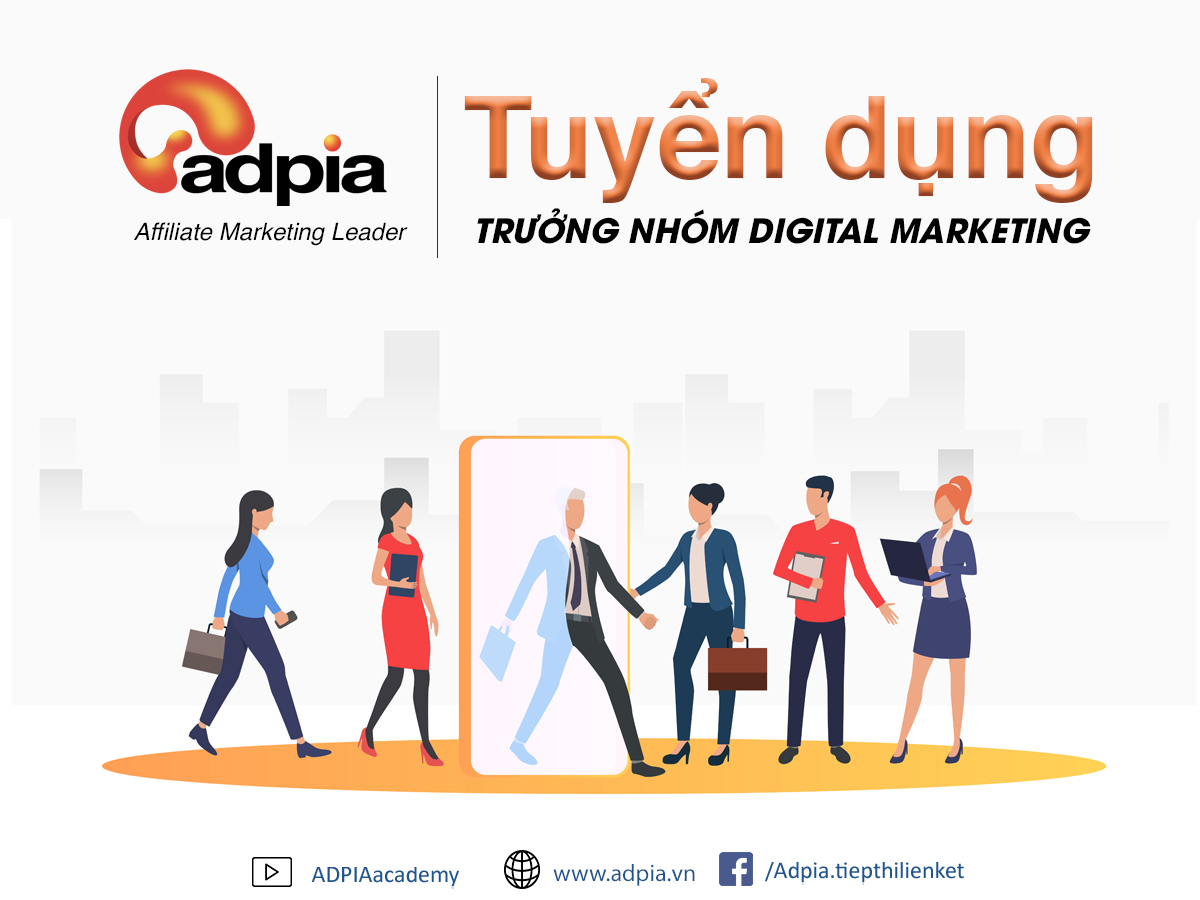 Tuyển Trưởng Nhóm Digital Marketing Lương ~ 15 triệu