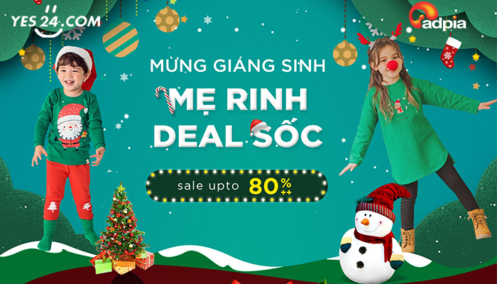 [YES24] MỪNG GIÁNG SINH MẸ RINH DEAL SỐC