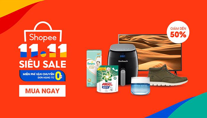 Chương trình 11.11 Siêu Sale trên Shopee