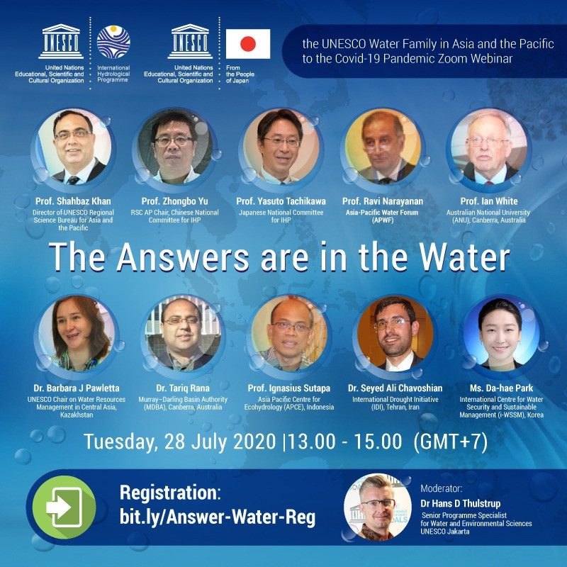 The UNESCO Water Family in Asia and the Pacific responds to the Covid-19 pandemic