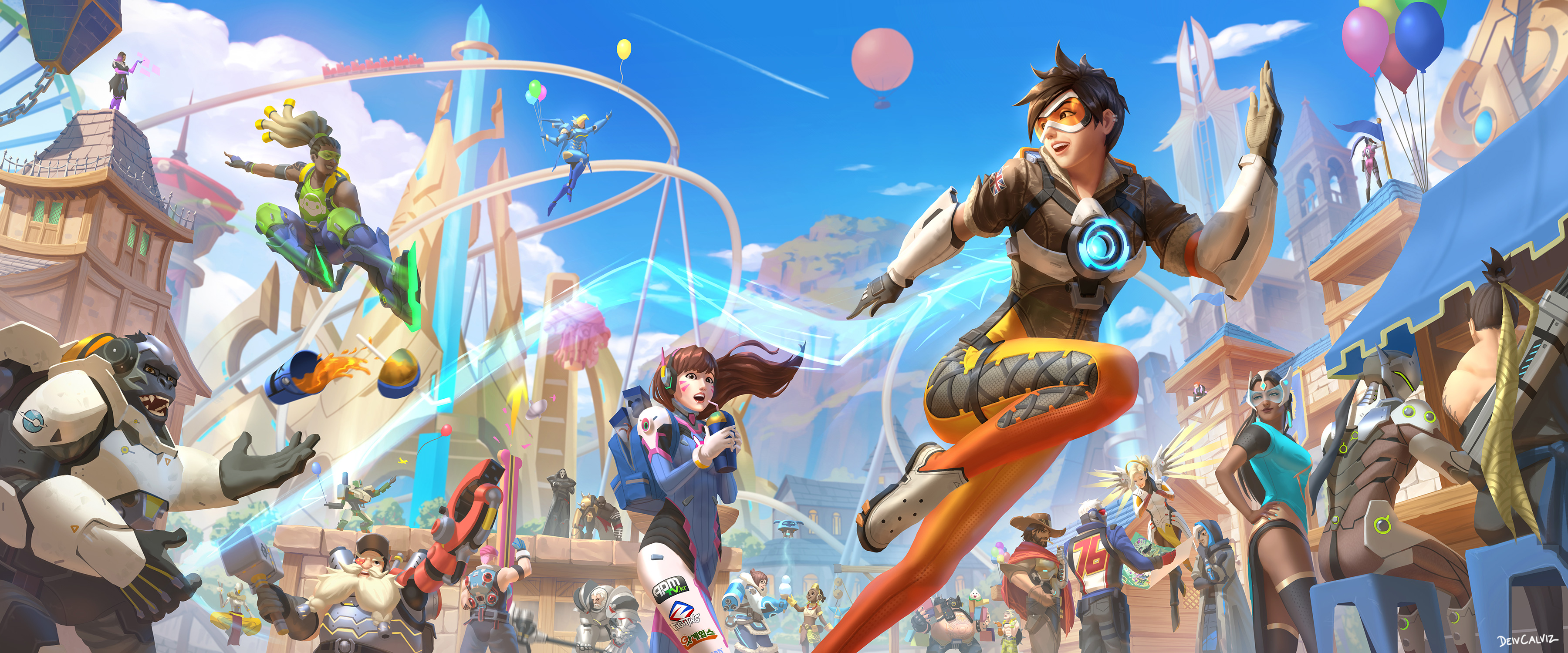 Winners Overwatch Latest Map Blizzard World Drawing Contest
