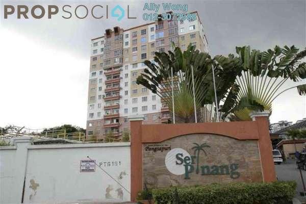 For Sale Apartment at Seri Pinang Apartment, Seri Kembangan Freehold Semi Furnished 3R/2B 299k