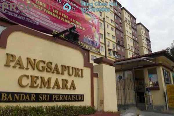 For Rent Condominium at Cemara Apartment, Bandar Sri Permaisuri Leasehold Semi Furnished 3R/2B 1.4k