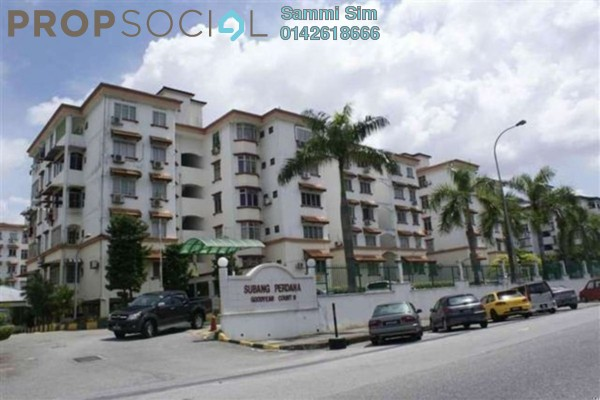 For Sale Apartment at Goodyear Court 6, UEP Subang Jaya Freehold Unfurnished 3R/2B 310k