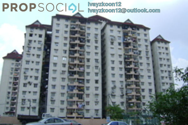 For Rent Condominium at Genting Court, Setapak Leasehold Fully Furnished 3R/2B 1.2k
