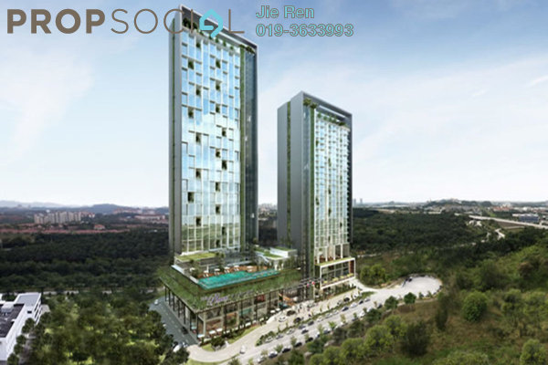 For Rent Apartment at The Place, Cyberjaya Freehold Unfurnished 3R/2B 1.8k