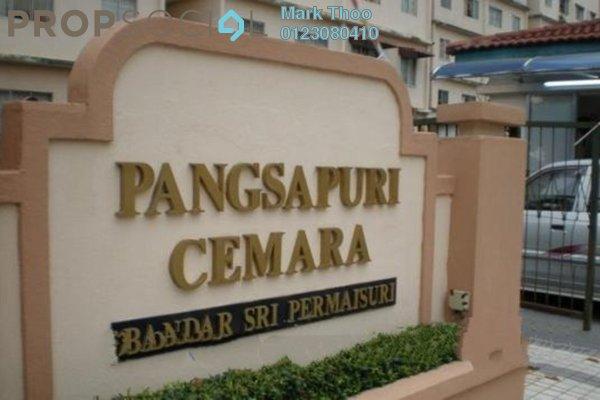 For Sale Apartment at Cemara Apartment, Bandar Sri Permaisuri Leasehold Semi Furnished 3R/2B 352k