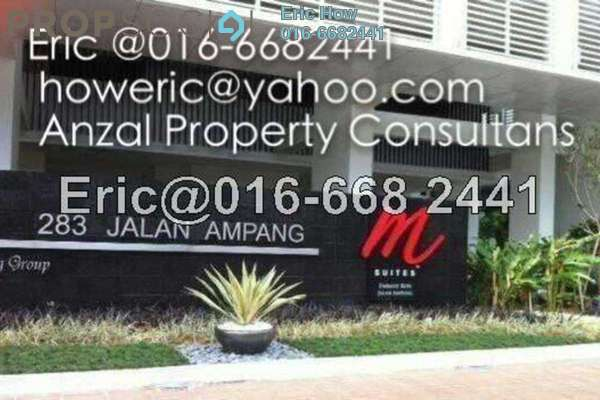 For Rent Condominium at M Suites, Ampang Hilir Freehold Fully Furnished 1R/1B 4.6k