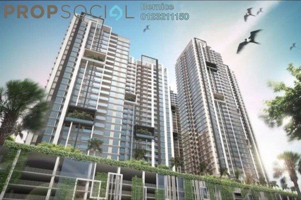 For Sale Condominium at Aurora Residence @ Lake Side City, Puchong Leasehold Semi Furnished 3R/2B 500k