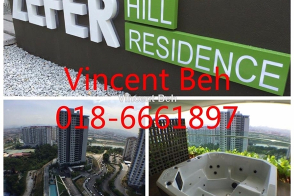 For Rent Condominium at Zefer Hill Residence, Bandar Puchong Jaya Freehold Semi Furnished 3R/3B 1.4k