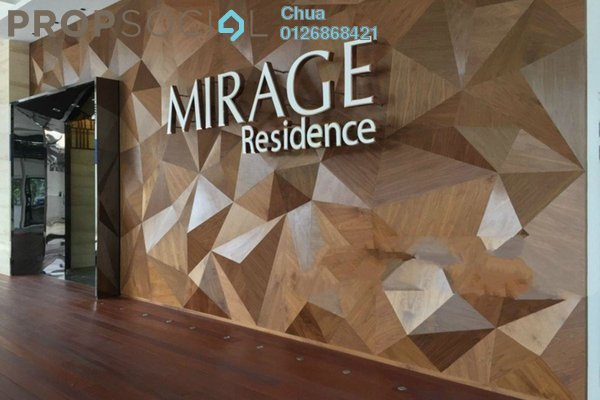For Rent Condominium at Mirage Residence, KLCC Freehold Fully Furnished 3R/3B 6.5k