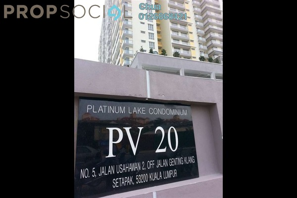For Rent Condominium at Platinum Lake PV20, Setapak Leasehold Semi Furnished 3R/2B 2.2k