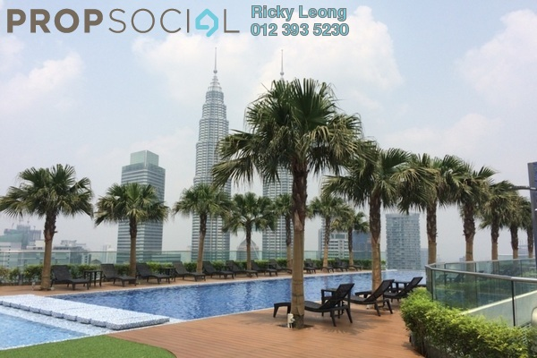 For Sale Condominium at Quadro Residences, KLCC Freehold Semi Furnished 3R/3B 2.79m