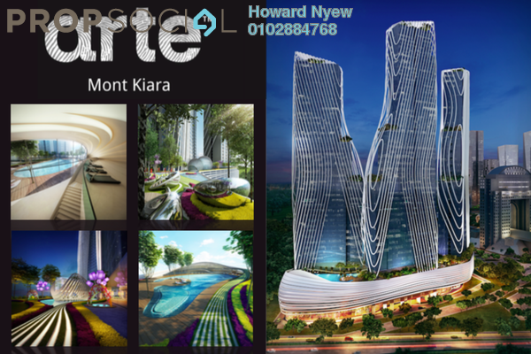 For Sale Serviced Residence at Arte Mont Kiara, Dutamas Leasehold Semi Furnished 1R/1B 610k