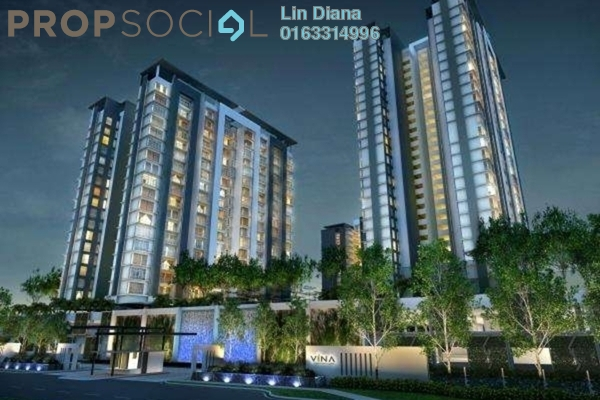 For Sale Condominium at Vina Versatile Homes, Cheras South Freehold Semi Furnished 3R/2B 590k
