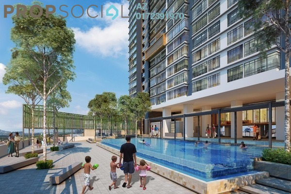 For Sale Serviced Residence at The Edge Residen, Subang Jaya Leasehold Semi Furnished 3R/2B 381k
